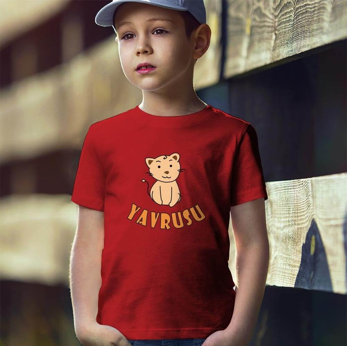 Tisho - Aslan Yavrusu Erkek Çocuk Tişört - Tekli Kombin
