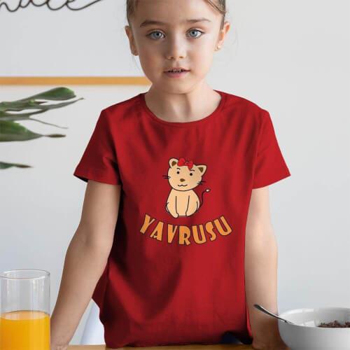 Tisho - Aslan Yavrusu Kız Çocuk Tişört - Tekli Kombin