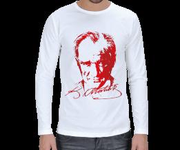 baytarınyeri - Atatürk Baskılı Erkek Uzun Kol
