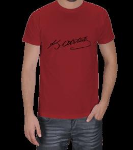 Ms Art Tasarım - atatürk İmzalı Erkek Tişört