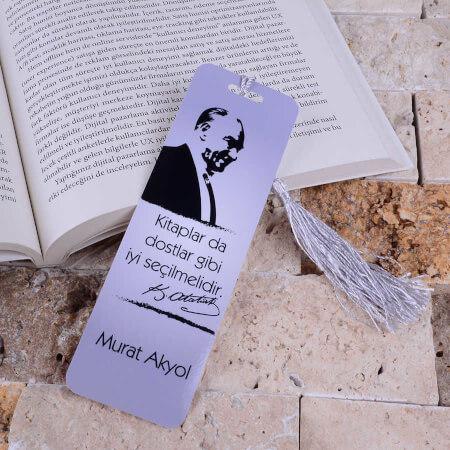 - Atatürk Resimli Kitap Ayracı Hediyesi