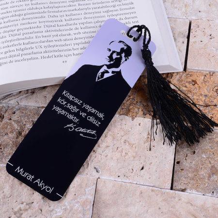 - Atatürk Resimli Kitap Ayracı