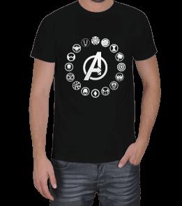 Geek-Shirt - Avengers Ekip Logoları Toplu Erkek Tişört