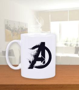 Geek-Shirt - Avengers Endgame Toz Logo Kupa Beyaz Kupa Bardak