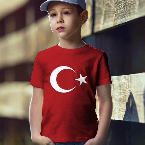 Tisho - Ay Yıldız Erkek Çocuk Kısa Kol Tişört - Tekli Kombin