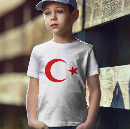 Ay Yıldız Erkek Çocuk Kısa Kol Tişört - Tekli Kombin