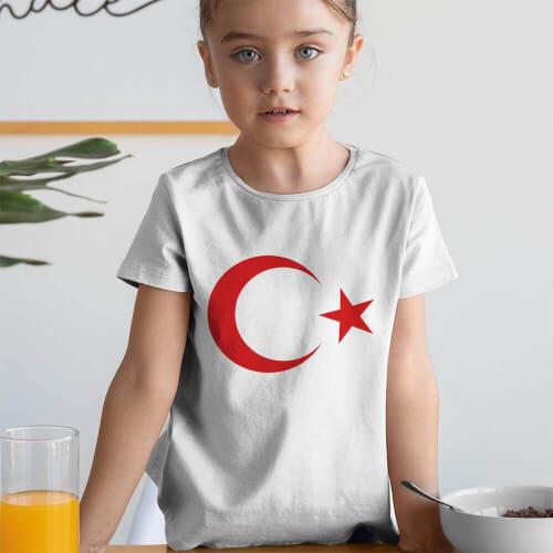 Tisho - Ay Yıldız Kız Çocuk Kısa Kol Tişört