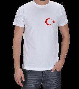 Harika tasarımlar - Ay yıldızlı tişört Erkek Tişört