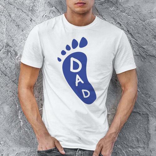 Tisho - Ayak Baskılı Erkek Tişört - Tekli Kombin