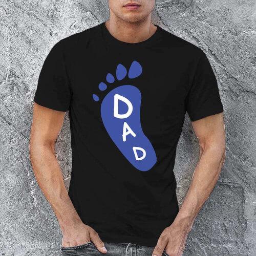 Ayak Baskılı Erkek Tişört - Tekli Kombin - Thumbnail
