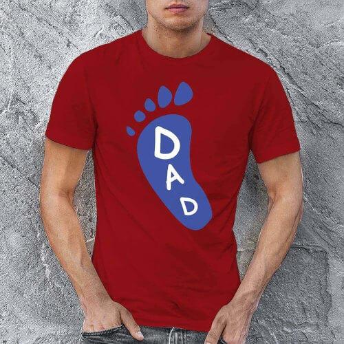 Ayak Baskılı Erkek Tişört - Tekli Kombin