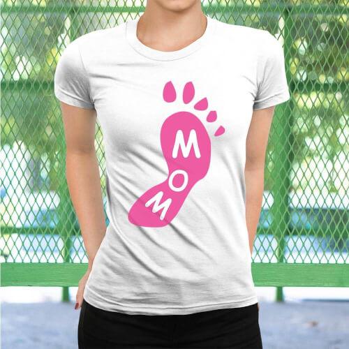 Ayak Baskılı Kadın Tişört - Tekli Kombin - Thumbnail
