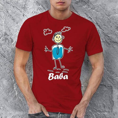 Baba Çöp Adam Erkek Kısa Kol Tişört - Tekli Kombin