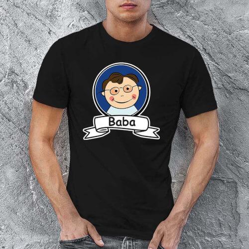 Tisho - Baba Resimli Erkek Tişört - Tekli Kombin