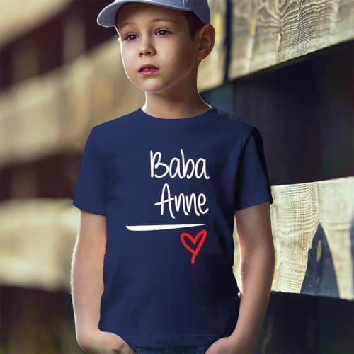Tisho - Baba ve Anne Yazılı Erkek Çocuk Tişört - Tekli Kombin