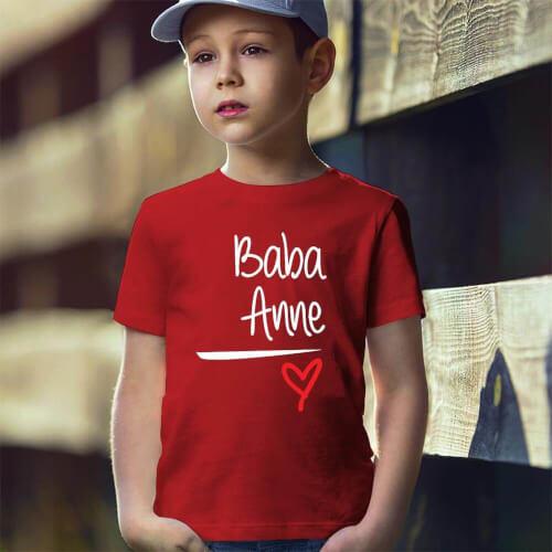 Tisho - Baba ve Anne Yazılı Erkek Çocuk Tişört - Tekli Kombin (1)