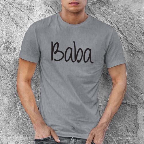Tisho - Baba Yazılı Erkek Tişört - Tekli Kombin (1)