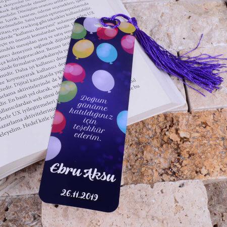 - Balon Detaylı Kitap Ayracı