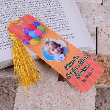 - Balon Tasarımlı Doğum Günü Kitap Ayracı