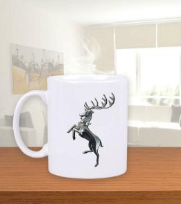Geek-Shirt - Baratheon Hane Simgesi Beyaz Kupa Bardak
