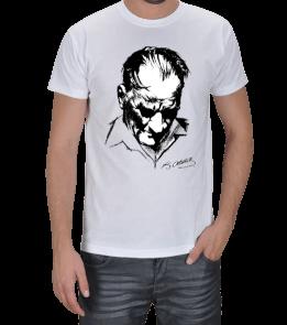 yükselen tarz - BASKILI BEYAZ TİŞÖRT Erkek Tişört