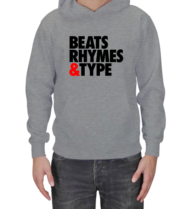Özgür Klavye - Beats Rhymes Type Erkek Kapşonlu