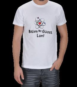 BilimNeGuzelLan - Bilim Ne Güzel Lan Açık Renk Erkek Tişört
