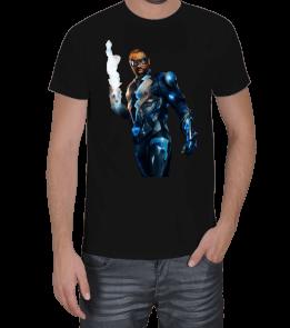 AB - Black Lightning Siyah T-Shirt Erkek Tişört