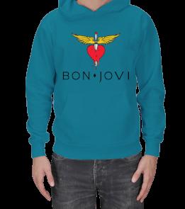 ANONİM SHARE - Bon Jovi Sweatshirt Erkek Kapşonlu