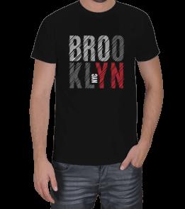 Turuncu Oda Tasarım - Brooklyn Baskılı Erkek Tişört