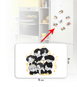 Mervilluu - BTS-OT7 Kişiye Özel Buzdolabı Magneti