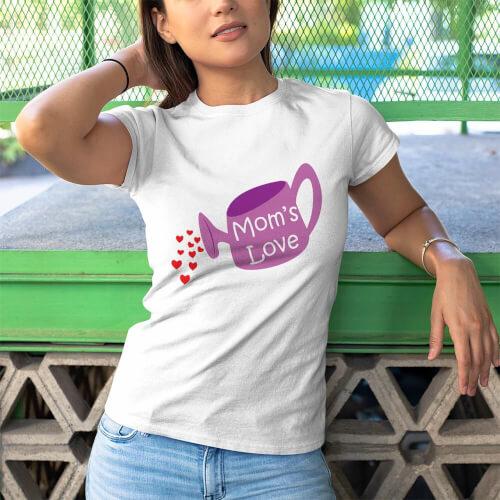 Tisho - Büyüyen Sevgi Kadın Kısa Kol Tişört