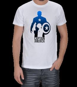 Geek-Shirt - Captain America Mavi Tasarımlı Erkek Tişört