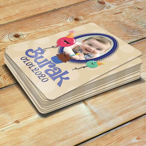 - Çerçeveli Erkek Bebek Doğum Günü Magneti