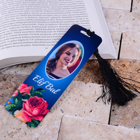 - Çiçek Tasarımlı Kitap Ayracı Hediyesi