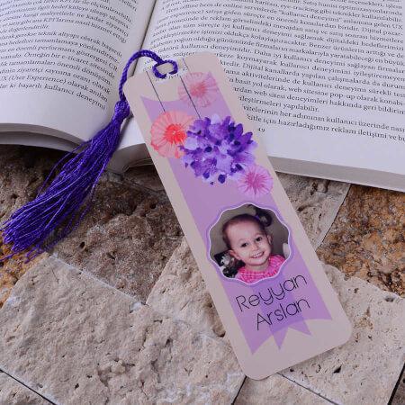 - Çiçek Tasarımlı Kitap Ayracı