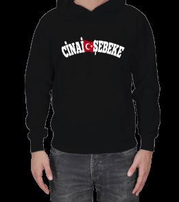 TisörtÇarşısı - Cinai Şebeke Kapşon Erkek Kapşonlu