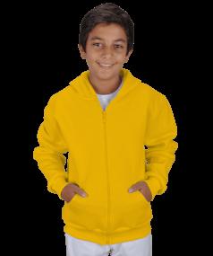 Çocuk Kapüşonlu Hoodie Fermuarlı - Thumbnail