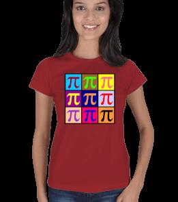 mathdesign - ÇOKLU Pİ KARE B Kadın Tişört