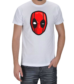 Geek-Shirt - Deadpool Kafa Tasarımlı Erkek Tişört