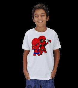 Aperture Tee - deadpool-spiderman Çocuk Unisex