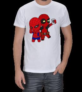 Aperture Tee - deadpool-spiderman Erkek Tişört
