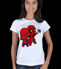 Aperture Tee - deadpool-spiderman Kadın Tişört