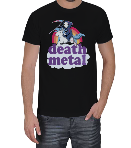 HayAksiŞeytan - Death Metal - Azrail Gökkuşağı Erkek Tişört