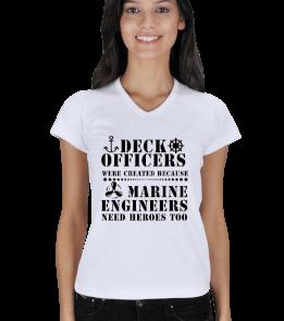 Sailing Store - Deck Officers Kadın V Yaka