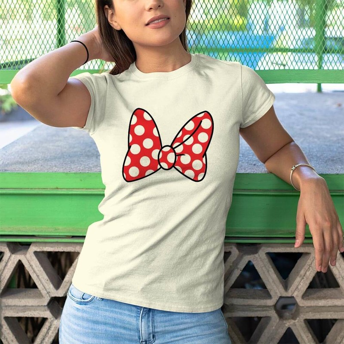 Disney Temalı Kadın Tişört - Tekli Kombin - Thumbnail