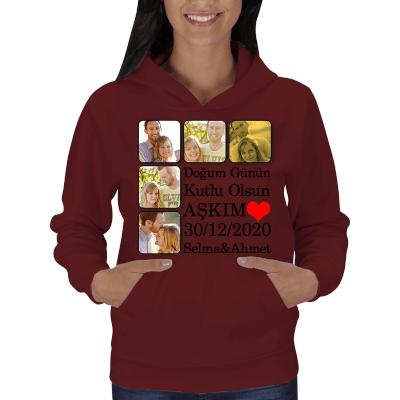 Doğum Günü Temalı Bayan Kapşonlu Sweatshirt - Thumbnail