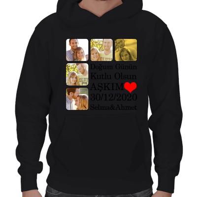 Doğum Günü Temalı Erkek Kapşonlu Sweatshirt - Thumbnail