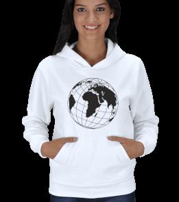 angie - Dünya Woman 2 Beyaz Kadın Kapşonlu