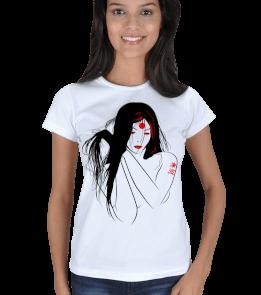 just-style - EN35059 Bayan Fantastik Görselli Tişört Kadın Tişört